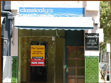 classical gas antique shop